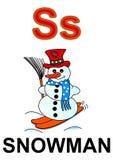 Schneemann des Zeichens S Stockbild