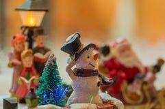 Schneemann an einem Weihnachten Lizenzfreies Stockbild