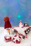 Schneemann mit einem Stern Lizenzfreies Stockfoto