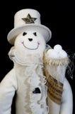 Schneemann mit Schneekugeln und -hut Lizenzfreie Stockbilder