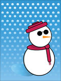 Schneemann mit Sonnenbrillen Stockbild