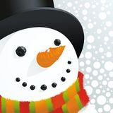 Schneemann und Schnee Stockfoto