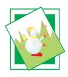 Schneemann- und Weihnachtsbaum Lizenzfreie Stockbilder