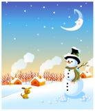 Schneemann und Winter Stockbilder