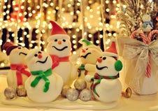 Schneemann-Weihnachtsdekoration Lizenzfreie Stockfotos