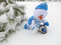 Schneemann - Weihnachtsfotos auf Lager Stockbild