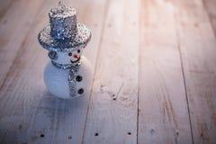 Schneemann-Weihnachtshintergrund Stockbild