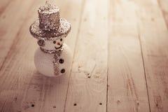 Schneemann-Weihnachtshintergrund Stockfotografie