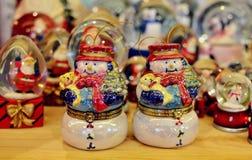 Schneemann-Weihnachtsverzierung Lizenzfreie Stockfotografie