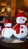 Schneemanndekoration, frohe Weihnachten, guten Rutsch ins Neue Jahr Lizenzfreie Stockbilder