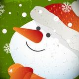 Schneemannillustration für Weihnachtsdesign lizenzfreie abbildung