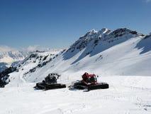 Schneemaschinen lizenzfreie stockfotos