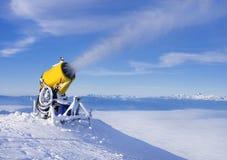 Schneemaschinengewehr Stockfoto