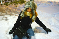Schneemodell lizenzfreies stockfoto