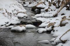 Schneenebenfluß in Twin- Fallsstadt Stockfoto