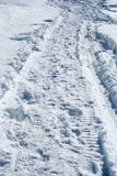 Schneepfad Stockfotos
