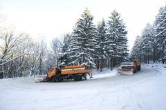 Schneepfl5uge Stockbild