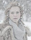 Schneeportrait Stockbild