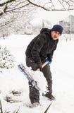 Schneeräumung Stockfotos