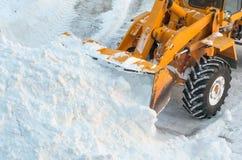Schneeräumung Lizenzfreie Stockbilder