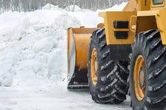 Schneeräumung Stockfotografie