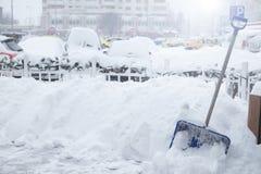 Schneeräumungsgegenstand Stockfoto