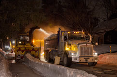 Schneeräumungsoperationen Stockfotografie