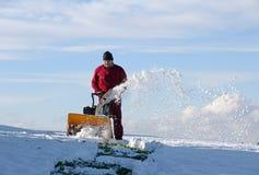 Schneeräumung Stockfoto