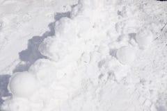 Schneeschloss-Wandbeschaffenheit Snowy-Tag von Januar lizenzfreies stockbild