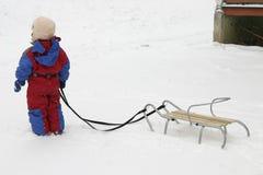 Schneespaß stockfoto