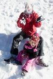 Schneespaß Stockbild