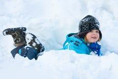 Schneespaß lizenzfreie stockfotos