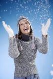 Schneespaß Stockfotografie