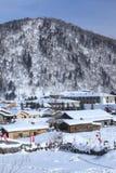 Schneestadt Lizenzfreies Stockbild