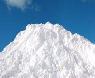 Schneestapel Stockbild