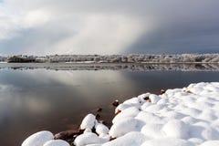 Schneesteine Stockfotografie