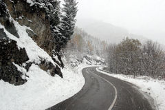 Schneestraße Stockfoto