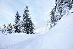Schneestraße Stockbilder