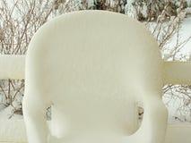 Schneestuhl Stockfoto