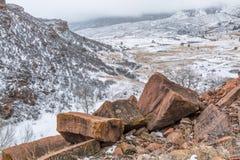 Schneesturm über Colorado-Vorbergen Lizenzfreies Stockfoto