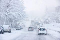 Schneesturm Lizenzfreie Stockfotos
