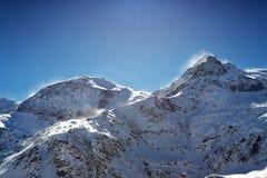 Schneesturm Stockfoto