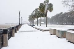 Schneesturm in Charleston, South Carolina