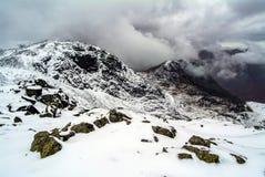 Schneesturm im englischen See-Bezirk lizenzfreies stockbild