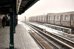 Schneesturm Niko in New York City am 9. Februar 2017 lizenzfreies stockbild