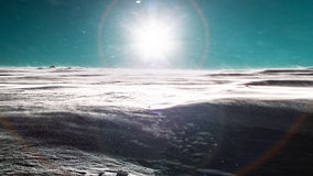 Schneesturm und Sonne Lizenzfreies Stockbild