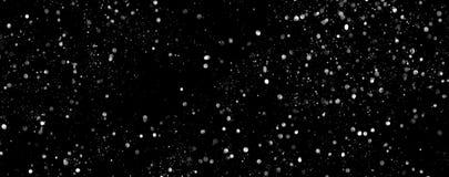 Schneesturmfahne Abstrakte Schneesturmbeschaffenheit Fallender Schnee Stockfotografie