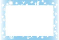 Schneesturmhintergrundfeld Lizenzfreies Stockfoto