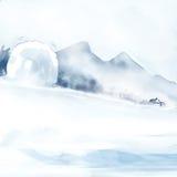 Schneesystemabsturz Stockbild