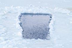 Schneewasserstelle Lizenzfreies Stockfoto